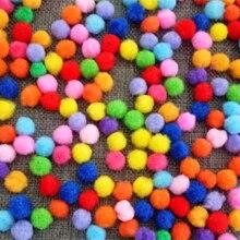 100pcs/bag mixed color pompon balls Home Decorative Flower Crafts DIY Toy accessories Head wreaths Garment accessories 1.5cm 2cm