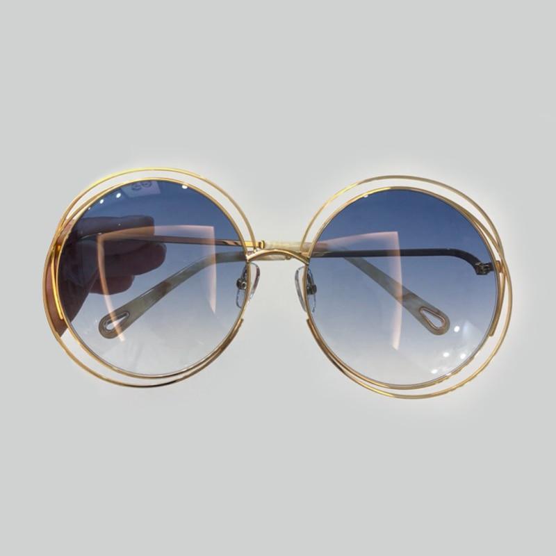 Round Sunglasses for Women Brand Designer High Quality Alloy Frame UV400 Lens with Packing Box Female