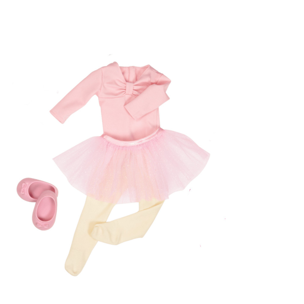 Doll Collection So Lovely Pink 4in1 Ballet Dance Dresses And Shoes For 43 CM Baby Born Zapf Doll Best Child Birthday Gift