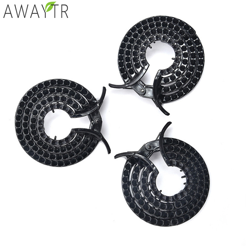 Black No Crystal Free Bird Nest Ponytail Holder Fair Crab Claw Clip Hairpin for Women Band Hair Accessories Barrettes   Headwear