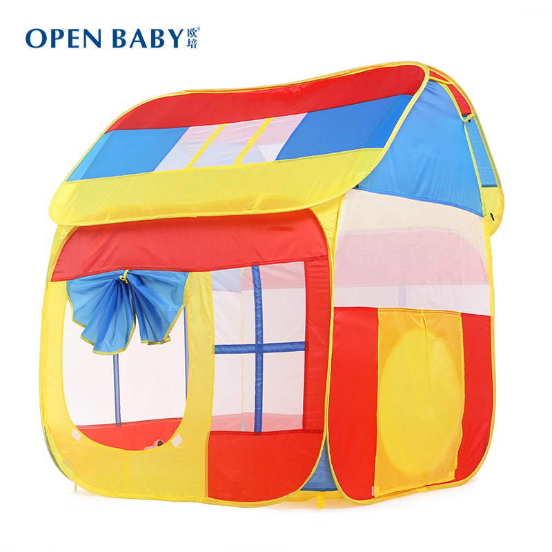 Child tent indoor toy oversized game house ocean ball pool big baby tent for children children's tent teepee Pink red