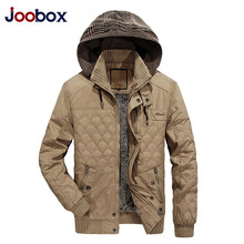JOOBOX 2017 Winter Jackets Mens Rushed Casual New Winter Men Coats Warm Thicken Parkas Hooded Outerwear Overcoat Brand Clothing