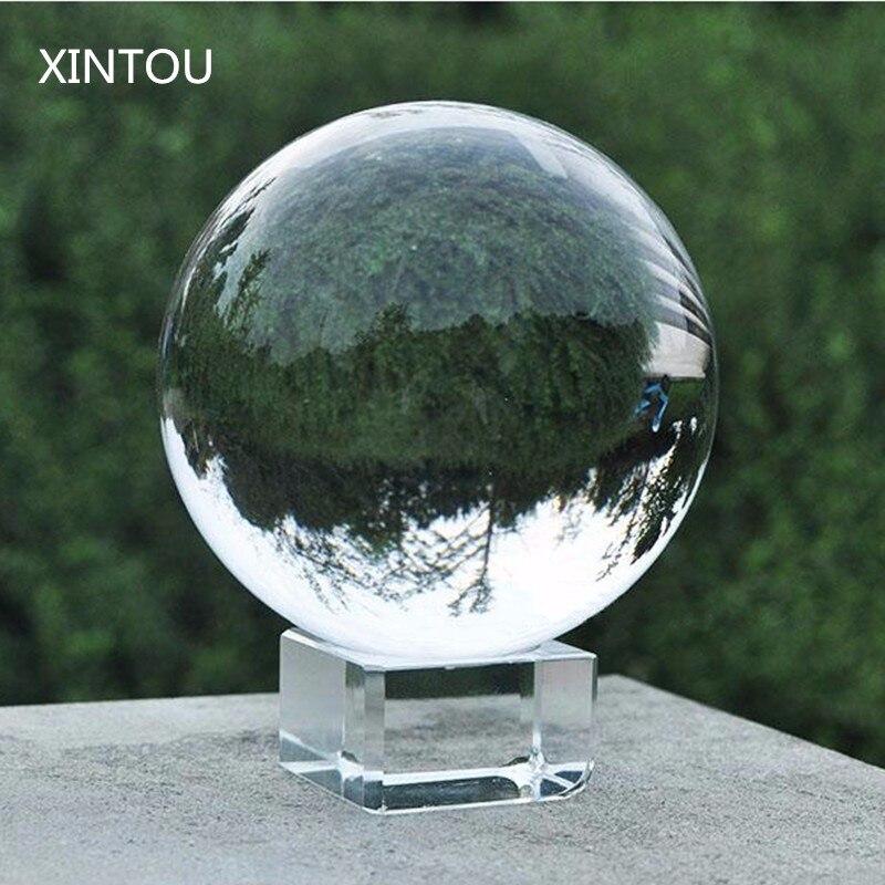 XINTOU Kristallglas Ball Objektiv Fotografie Kugel 50mm Feng Shui Globus Kugeln mit Stand Home Art Decor Maskottchen ornamente