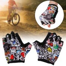 Promocja lato dla dzieci jazda na rowerze rękawice Half Finger Skate jazda konna rower górski rękawice sportowe na świeżym powietrzu dla chłopców i dziewcząt dzieci tanie tanio Rękawiczki Lycra Mikrofibra Chłopcy Zmywalna Pół palca Cycling Gloves THINKTHENDO XS(for 4-8 years old) S(for 9-13 years old)