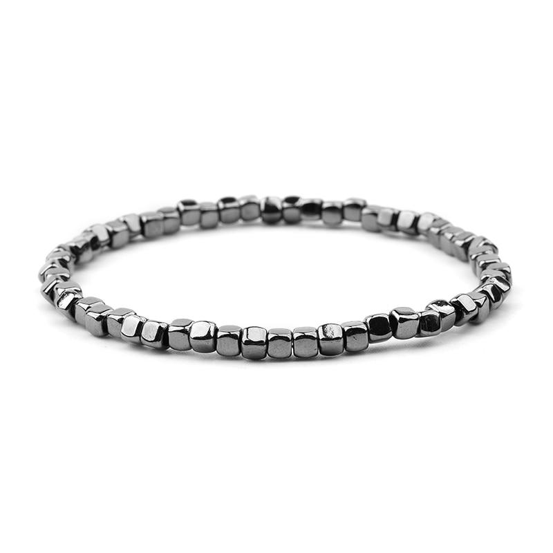 BOJIU многоцветные Кристальные браслеты для женщин золотые акриловые медные бусины розовый белый черный серый женский браслет с кристаллами BC226 - Окраска металла: 23-Black