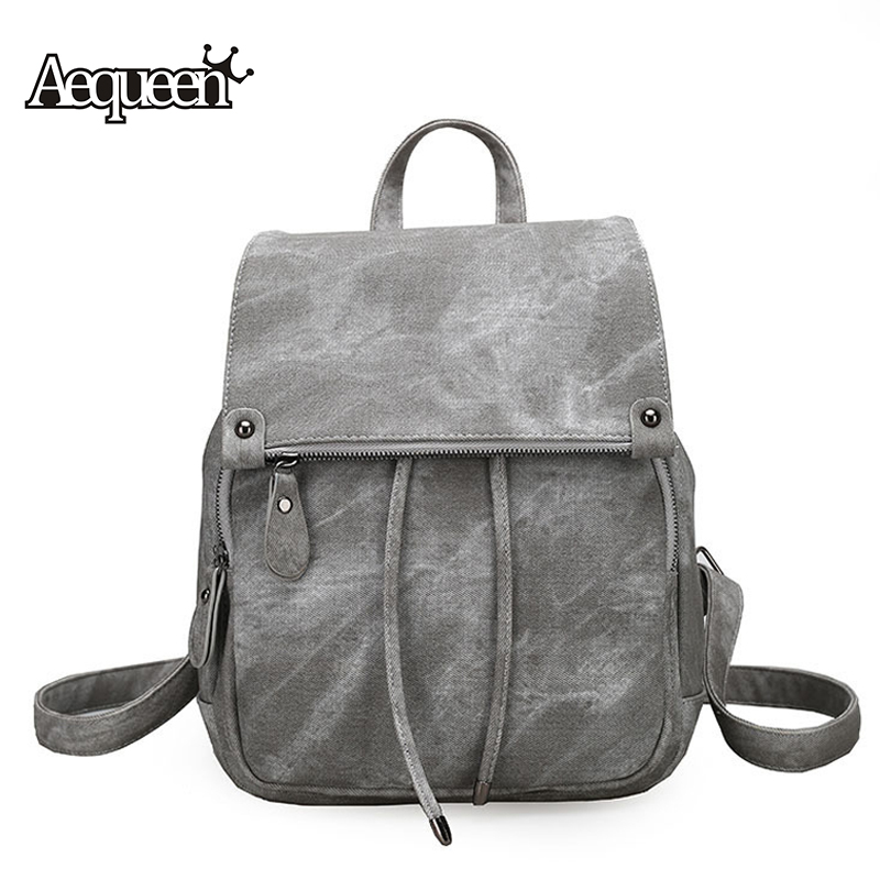 AEQUEEN 2017 New Fashion Women Backpack Leather Travel Backpacks School Bags For Teenagers Girls Preppy Style High Quality 2017 new fashion backpacks men travel backpack women school bags for teenagers girls pu leather preppy style backpack