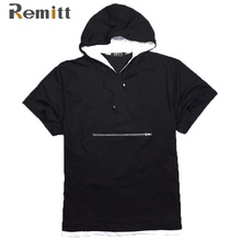 Männer Sommer Hooded T-shirt Einzigartiges Design XXXL 4XL 5XL 6XL 7XL 8XL Kurzarm T-shirt Plus Größe Mann Modische Reißverschluss Deco Top