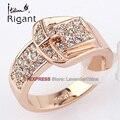 A1-r094 italina rigant joyería de moda cinturón de hebilla anillo 18kgp rhinestone tamaño 5.5-9