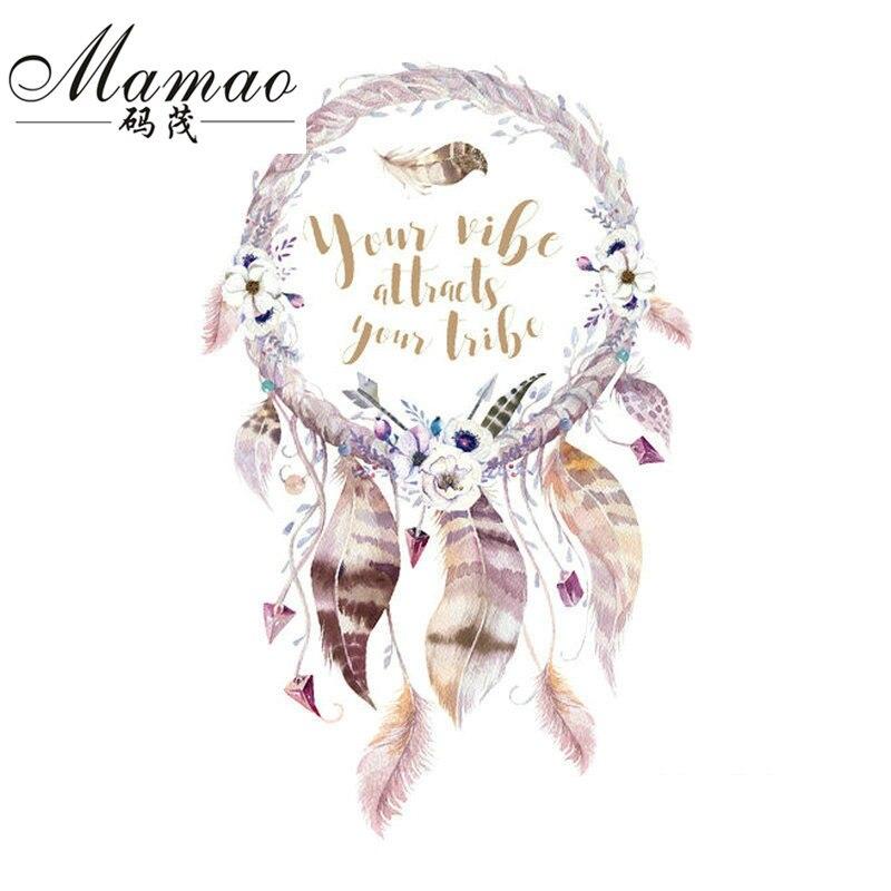 MAMAO Dreamcatcher Patch Iron On Transfer Flamingo Flower Letter - Konst, hantverk och sömnad - Foto 4