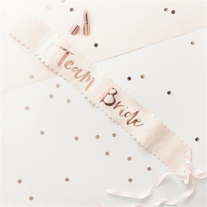 Image 4 - Team Bride to be Rose Gold Sash Hen Bachelorette Party Decorations Wedding Bridal Shoulder Marriage Bride to Be Party Supplies