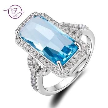 4.5 gm Zircon Silver Sapphire Rings For Women