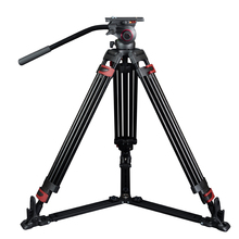 miliboo MTT609A Moveable Aluminium Tripod for Skilled Camcorder/Video Digicam/DSLR Tripod Stand,with Hydraulic Ball Head