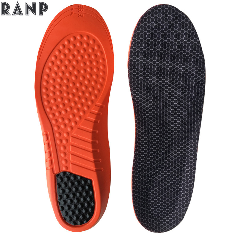 Comfortable Massage Granule PU Arch Suppor Sports Insoles For Shoes Man And Women Shock Absorption Palmilha Cushion Sole Pads цена
