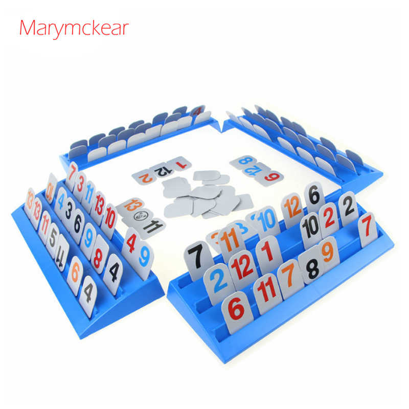 New Arrival Rummy Card Toy Digit Game Rummikub Logical Party Game Israeli Mahjong Dobble Intelligence Toy for Kids or Grownups