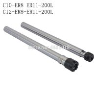 C10 C12 ER8 ER11 200L collet chuck 200 mm straight shank extension rod ER collet, ER nut CNC milling long knife holder