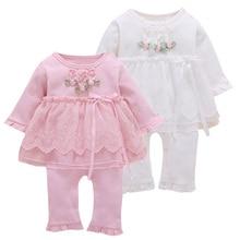 赤ちゃんの少女ロンパース新生児イン服幼児プリンセスコットンスーツ幼児服のレースのスカートスタイルロンパースベビー衣料品の新