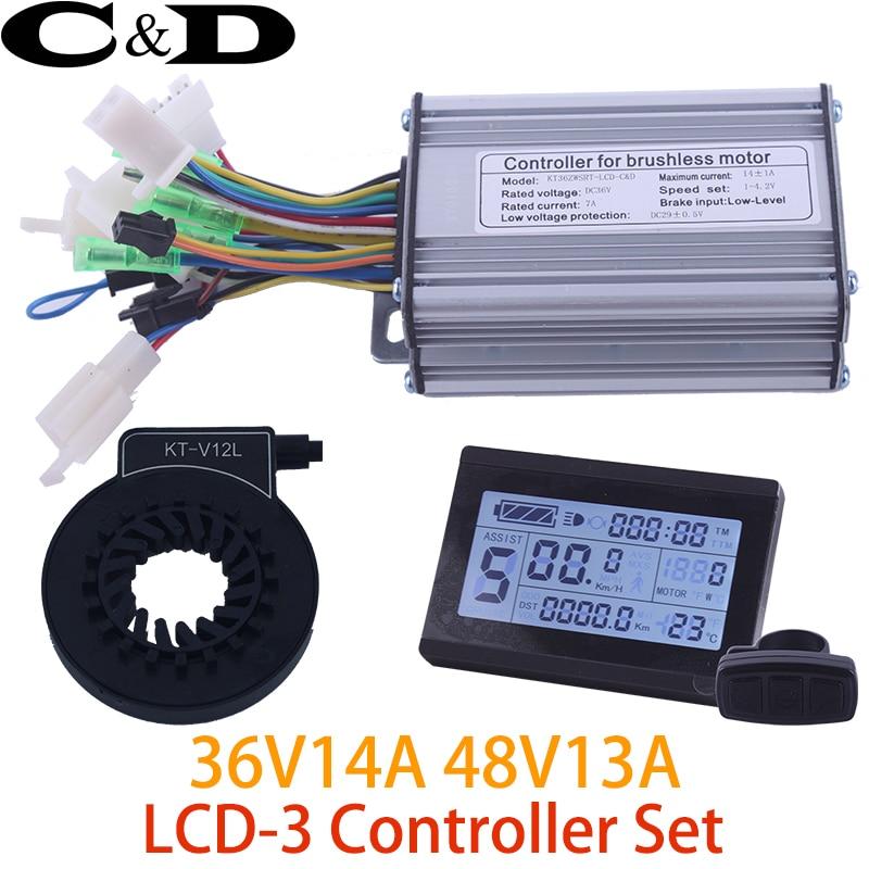 36V 250W 48V 350W Controller LCD LCD3 display Meter PAS Set E bike Conversion kit Dual
