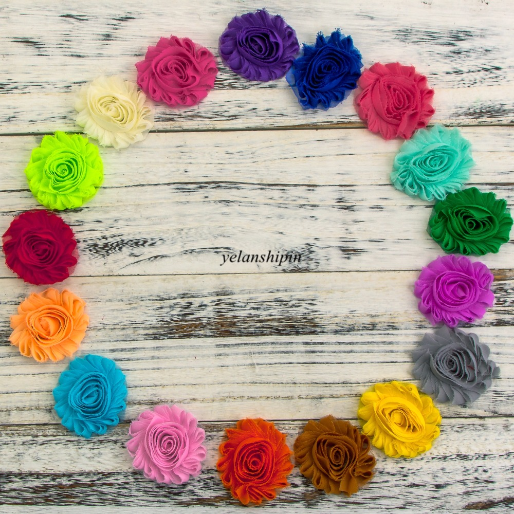 10pcs/lot 2.6 15colors Fashion Chic Shabby Chiffon Flowers Frayed Fabric Flowers Hair Clip For Hair Accessories For Headband halloween party zombie skull skeleton hand bone claw hairpin punk hair clip for women girl hair accessories headwear 1 pcs