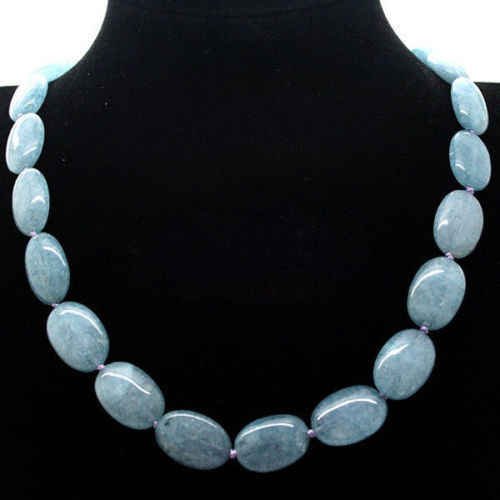 "ddh003808 13x18mm Brazil Oval Beads Necklace 18"" AAA 28% Discount"