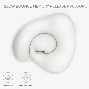Image 3 - U Shaped Memory Foam Neck Pillows Soft Slow Rebound Space 30*28*14CM Cervical Healthcare Bedding Drop Shipping Travel Pillow