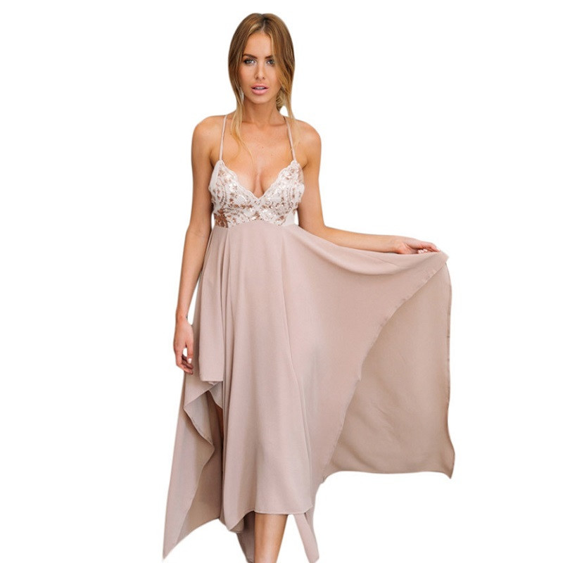 2018 Hot Sale Sexy V Neck Summer Dress Vestidos Long Maxi ...