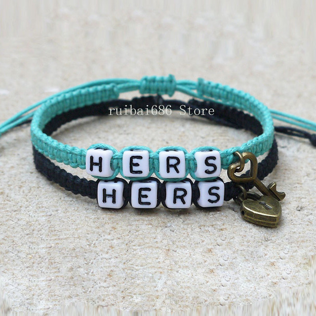 S Bracelets Set Hers And Key Lock An