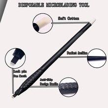 Новый дизайн, Перманентный макияж, инструмент для микроблейдинга, одноразовая ручка для микроблейдинга 18U 0,15 мм для профессионального татуажа бровей