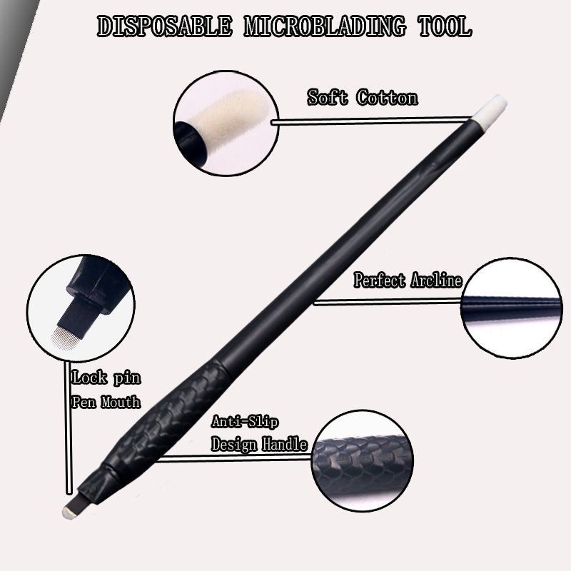 New Design Permanent Makeup Microblading Tool Disposable Microblading Pen 18U 0.15MM For Eyebrow Tattoo Professional