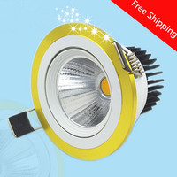 Free Shipping AC85 265V 10W 15W 25W Warm White White Cold White COB Led Ceiling Down