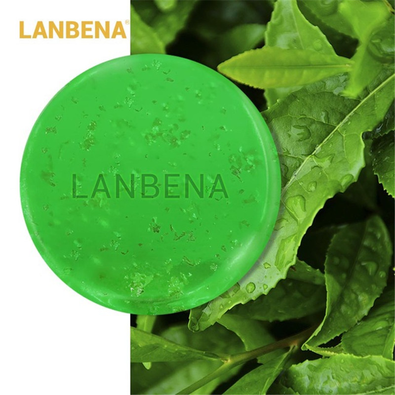 LANBENA Handmade Soap Tea Tree Essential Oil Facial Cleansing Acne Treatment Moisturizing Blackhead Remover Anti-Aging 40g