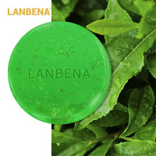 LANBENA Handmade Soap Tea Tree Essential Oil Facial Cleansing Acne Treatment Moisturizing Blackhead Remover Anti-Aging 40g lanbena 24k gold handmade soap tea tree essential oil facial cleansing acne treatment moisturizing blackhead remover anti aging
