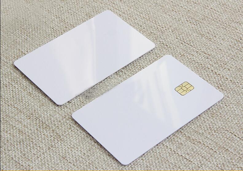 ISO Blank White Pvc SLE4442 Chip Plastic Contact Smart Card