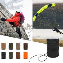 100M 550 Type Parachute corde Paracord longe corde 9 brins noyaux sauvetage tente randonnée corde rouleau