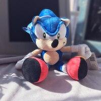 Бесплатная доставка 28 см синий Sonic The Peluche плюшевые куклы игрушки мягкая фигурка кукла подарок для детей