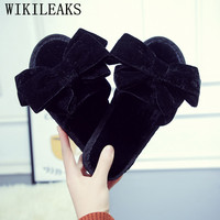 Winter Fur Sandals Women Shoes Designer Butterfly knot Slides Woman Pantoufle Home Slippers Famous Brand Ladies Red Fur Slippers