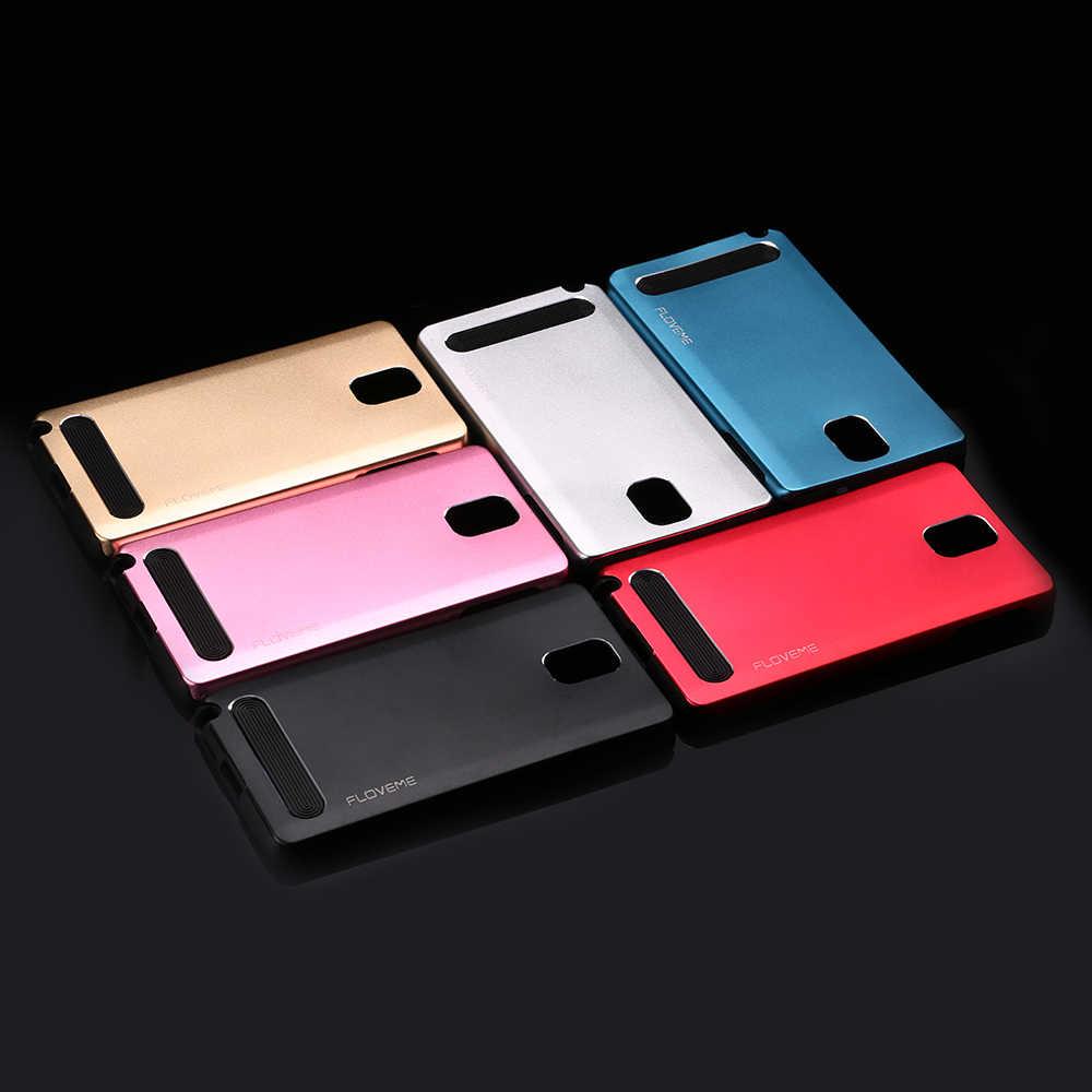 Floveme Lembut TPU Logam Aluminium Case Belakang untuk Samsung Galaxy S5 S6 S6 Edge Sulit Hybrid Armor Cover Samsung Galaxy a7 A8 A5 Capa