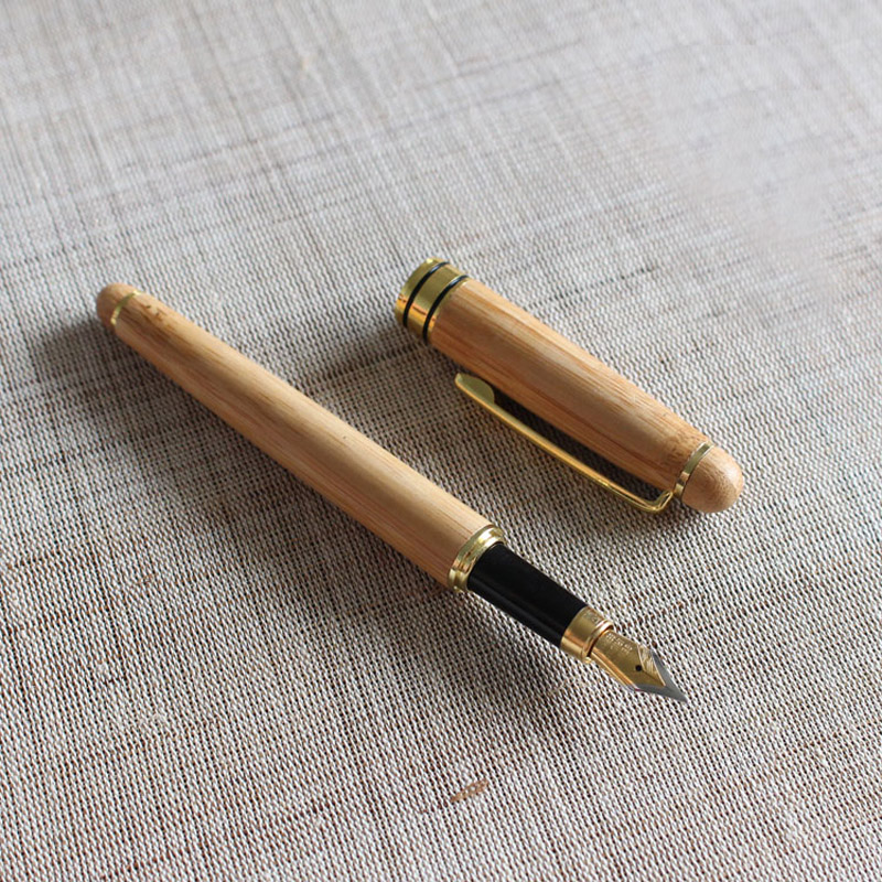 New Handmade Bamboo Fountain Pen Birthday Gift Pen parker 88 maroon lacquer gt fine point fountain pen