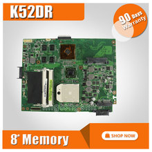 for ASUS K52DR laptop motherboard K52DY A52DE K52DE A52DR K52D Notebook mainboard HD5470 with 8pcs memory video card 100% tested