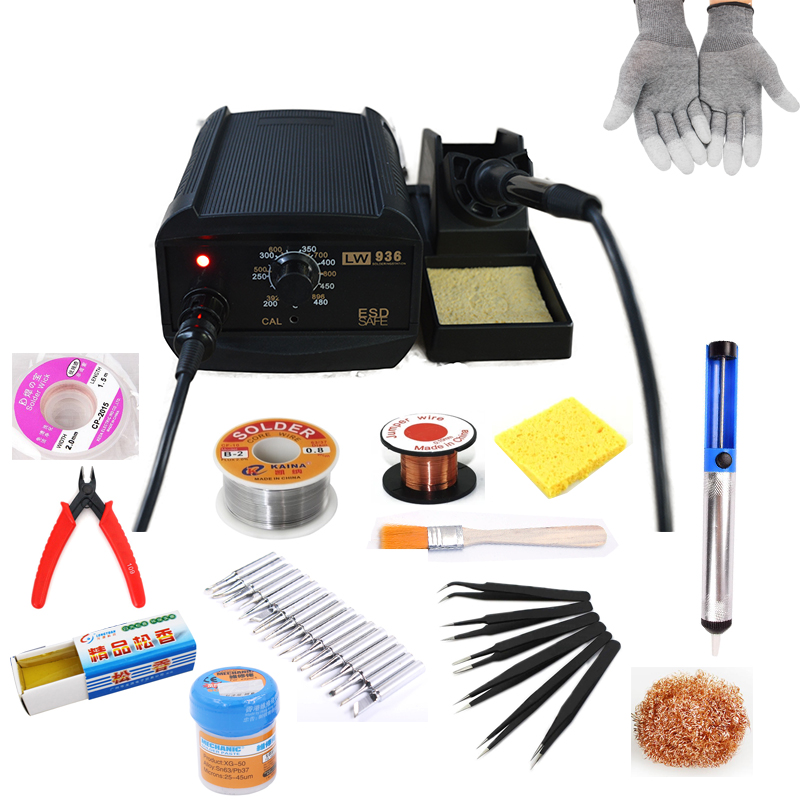 LW 936 Temperature-adjustable soldering station two-in-one anti-static soldering station Soldering iron soldering tool