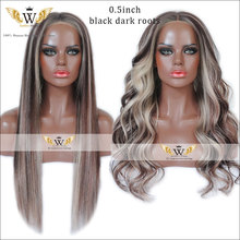 7A Ombre Brazilian Virgin Hair Full Lace Body Weave Wigs Ombre Dark Roots Glueless Full Lace Front Wigs With Baby Hair