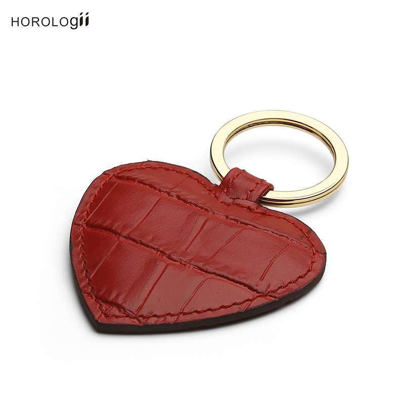 Horologii CUSTOM NAME FREE for iphone X max 7 8 leather case red crocodile pattern and red heart key holder gift box dropship in Fitted Cases from Cellphones Telecommunications