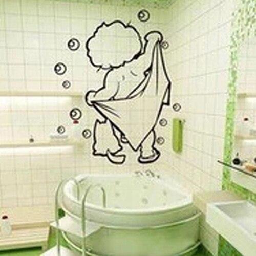 Haus Fliesen Glaser Wandtattoo Kinder Badezimmer Lustige Abnehmbare