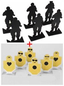 Image 1 - 12 teile/satz Metall Pistole Pistole Schießen Praxis Ziel Taktische Airsoft Jagd Schießen Ziel Ziel Set