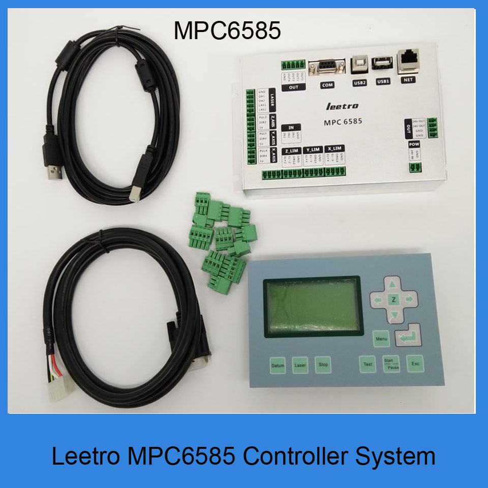 2018 Newest Leetro MPC6585 replace by MPC8530S Co2 laser engraving and cutting machine controller