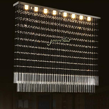 Jmmxiuz LED rectangular crystal chandelier high quality European-style living room lamp restaurant lamp creative bar+free ship
