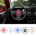 Creative Stickers Car-styling Aluminum Steering Wheel Decoration Ring for 11-13 Grand Cherokee/11+ Compass Patriot Wrangler