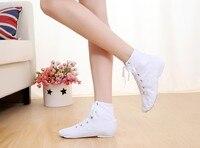 أبيض قماش الجاز الرقص أحذية الرقص الممارسة الأحذية أسود أبيض أحمر اختياري ، أحذية الرقص الناعمة الراقية ، مريحة