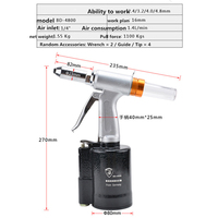Industrial pneumatic Rivet Machine Rivet Gun Standard with +360 Degree Air Inlet Fitting