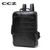 CCZ Fashion Luggage Bag For Men And Women WaterProof Backpack For Travel PU Leather Backpack 14