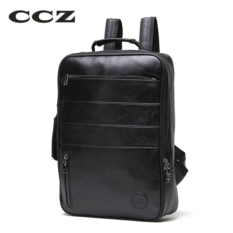 CCZ Fashion Luggage Bag For Men and Women WaterProof Backpack For Travel PU Leather Backpack 14 Laptop Computer Bag BK8002 14 15 15 6 inch flax linen laptop notebook backpack bags case school backpack for travel shopping climbing men women